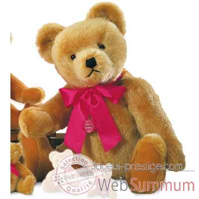 Nostalgic teddy old-gold avec voix 60 cm peluche hermann teddy original edition limitee -16360 2