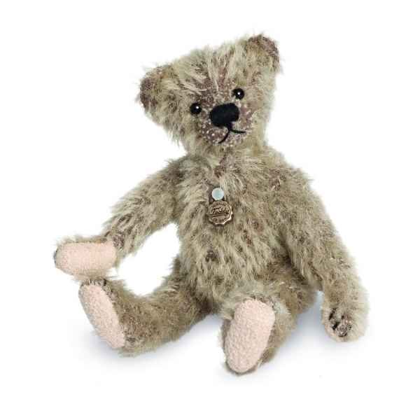 Ours en peluche de collection bicolore 10 cm hermann -15084 8