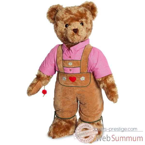 Ours en peluche de collection debout alois 100 cm hermann -17411 0