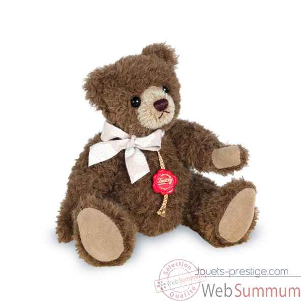 Ours en peluche de collection en alpaga chocolat 19 cm hermann -12300 2