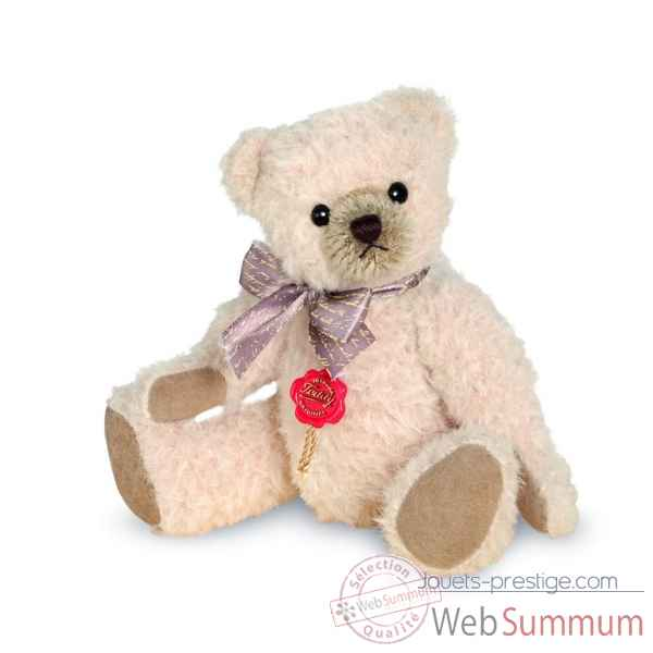 Ours en peluche de collection en alpaga rose clair 19 cm hermann -12301 9