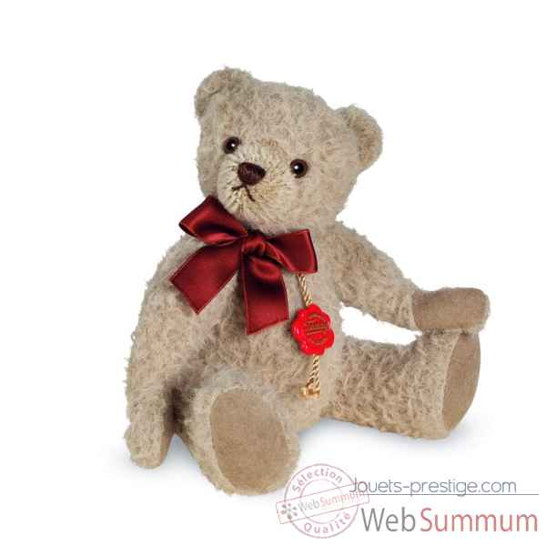 Ours en peluche de collection en alpaga sable 19 cm hermann -12302 6