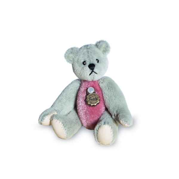 Ours en peluche de collection gris et rose 5,5 cm hermann -15433 4