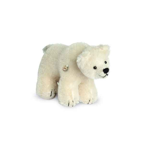 Ours en peluche de collection ours blanc 10 cm hermann -15082 4