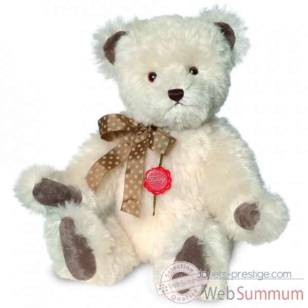 Ours en peluche de collection teddy blanc 45 cm hermann -16646 7