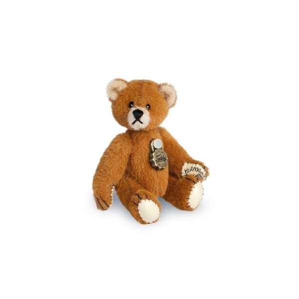 Ours en peluche de collection teddy brun dore 5 cm hermann -15414 3