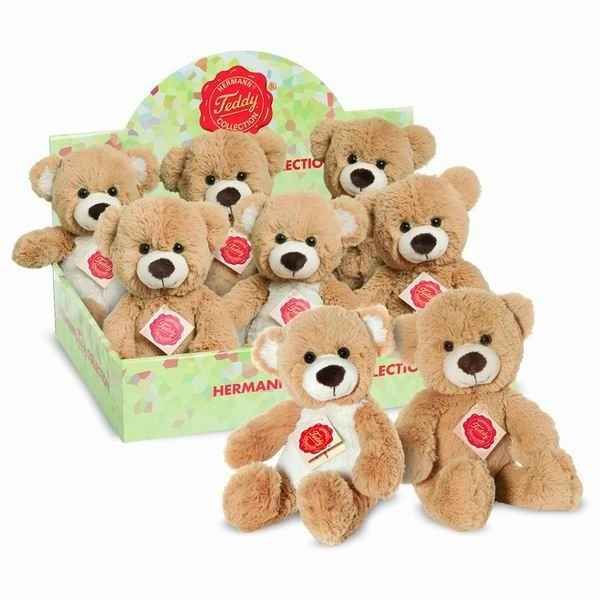 8 ours teddies 2 couleurs assorties 24 cm hermann -91170 8