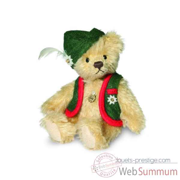 Ours teddy bear alberth 12 cm Hermann -16294 0