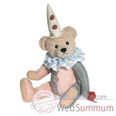 Ours teddy bear harlequin 30 cm peluche hermann teddy original edition limitee -17130 0