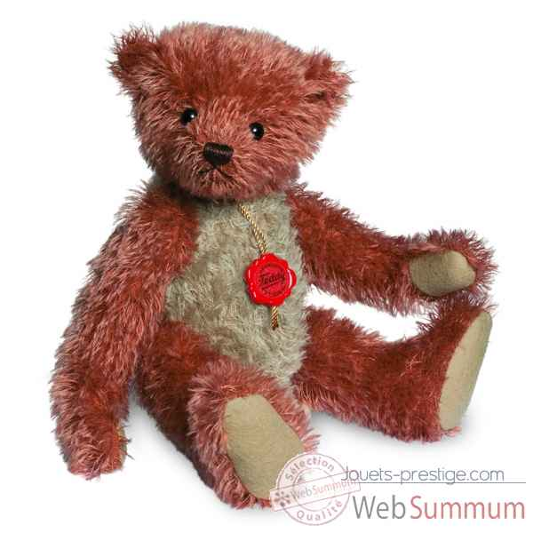 Ours teddy bear vintage rouge-beige 30 cm Hermann -16629 0