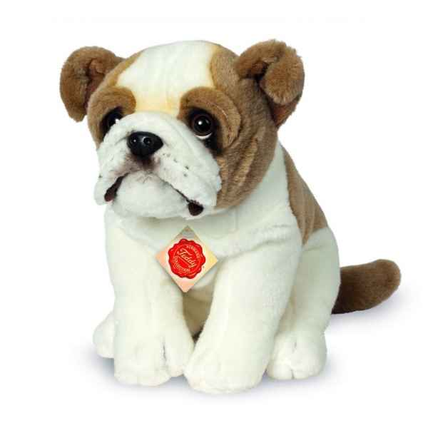 Peluche bouledogue anglais assis 27 cm Hermann -91931 5