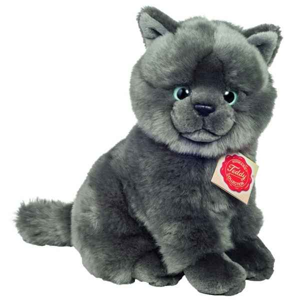 Peluche chat chartreux assis 20 cm Hermann -91825 7