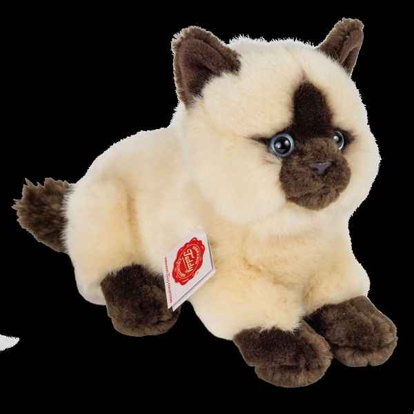 Peluche Chat siamois couche 20 cm hermann teddy collection -91830 1