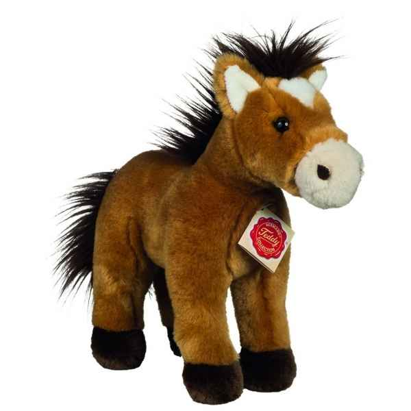 Peluche cheval debout or 25 cm Hermann -90262 1