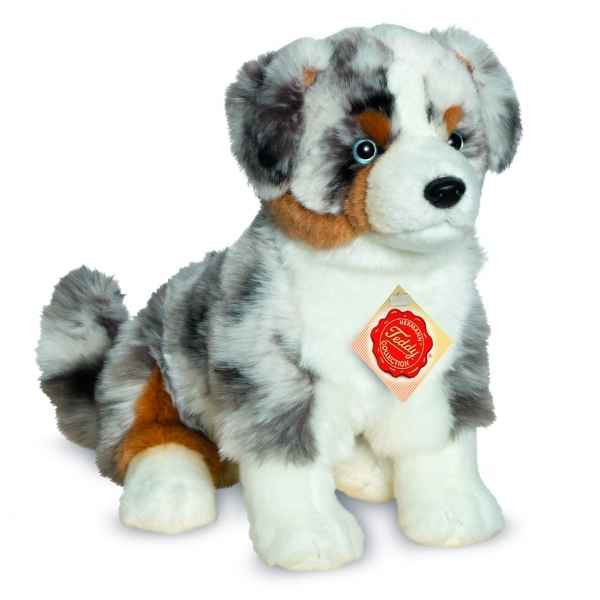 Peluche chien berger australien assis 30 cm Hermann -91933 9