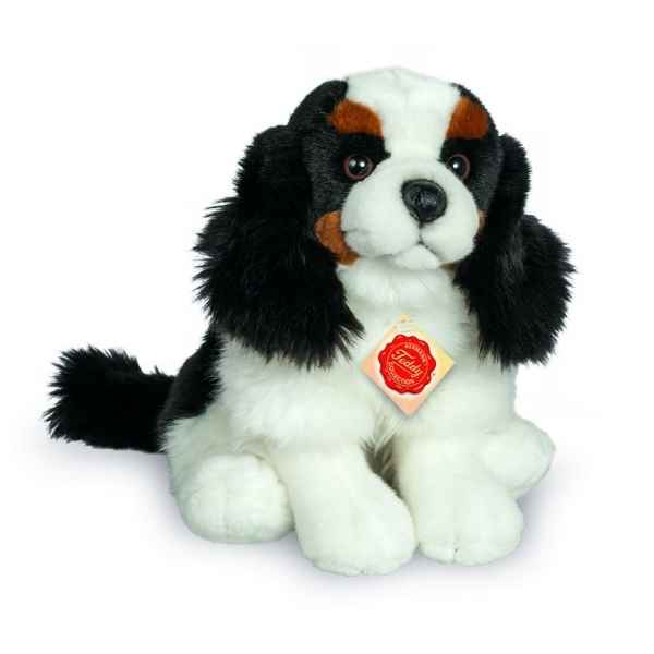 Peluche chien cavalier king charles assis 25 cm Hermann -91918 6
