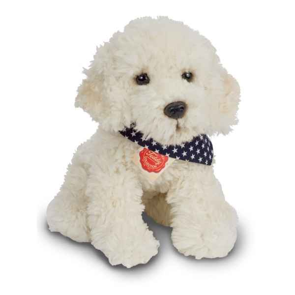 Peluche chien labrador assis 28 cm hermann teddy -91939 1