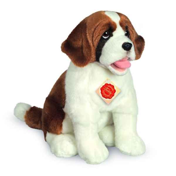 Peluche chien saint-bernard assis 33 cm Hermann -91917 9