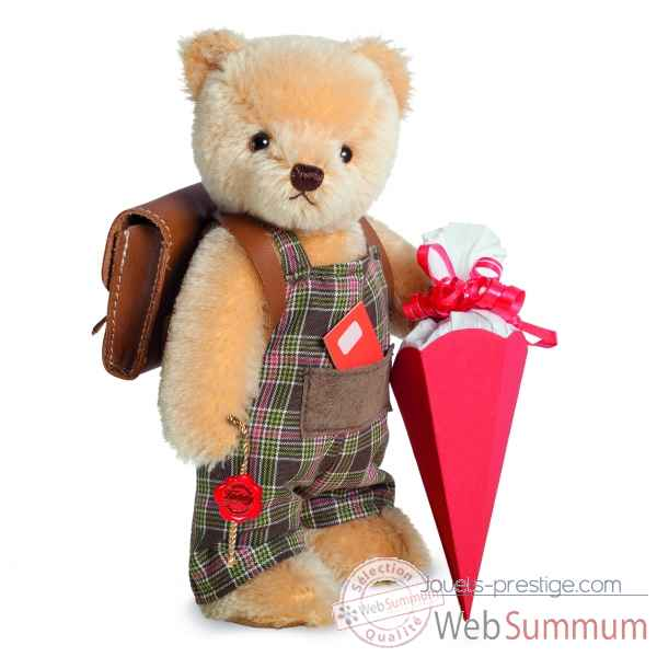 Peluche de collection ours ecolier 22 cm ed. limitee Hermann -17122 5