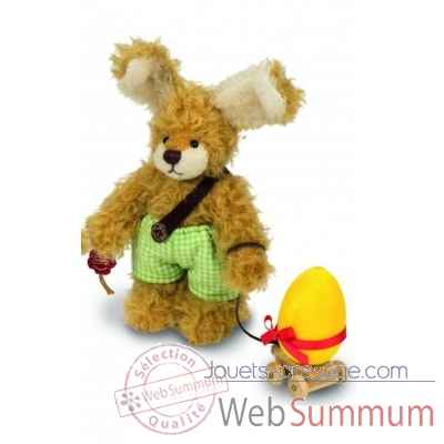 Peluche de collection lapin garcon jonas 19 cm ed. limitee Hermann -16761 7