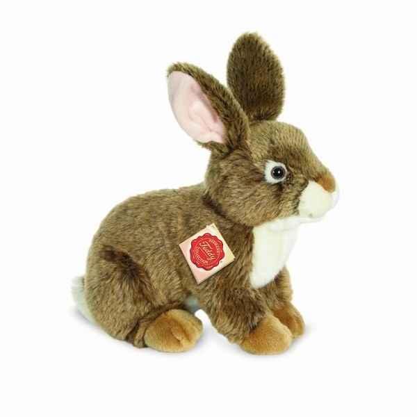 Peluche lapin assis marron 24 cm hermann dans peluche - Peluche lapin marron ...