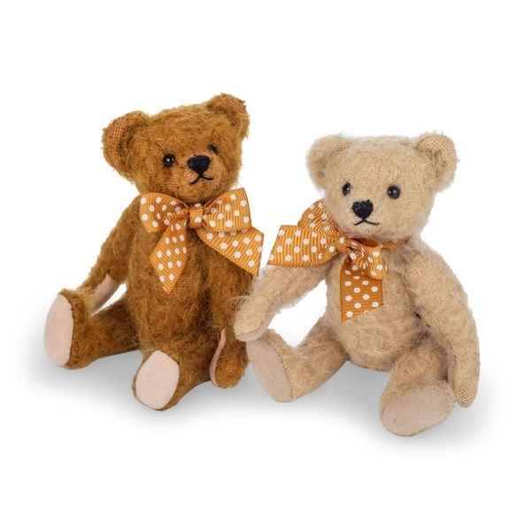 Peluche miniature original hermann teddy marron antique 11 cm -15472 3