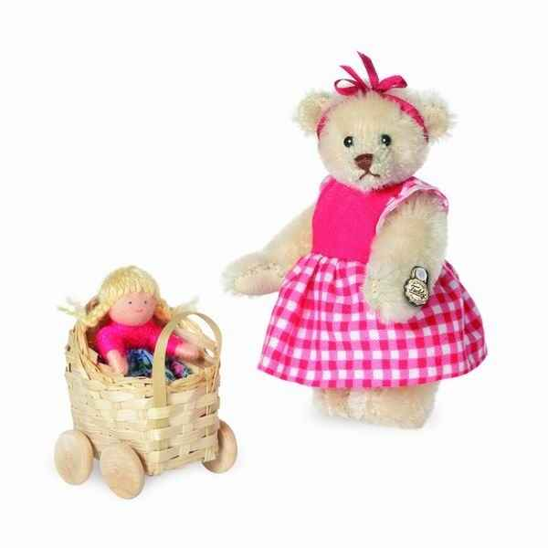 Peluche miniature ours klara 9 cm collection 2d. limitee teddy original hermann -15158 6