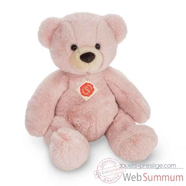 Peluche Nounours ours teddy rose 40 cm hermann teddy collection -91364 1