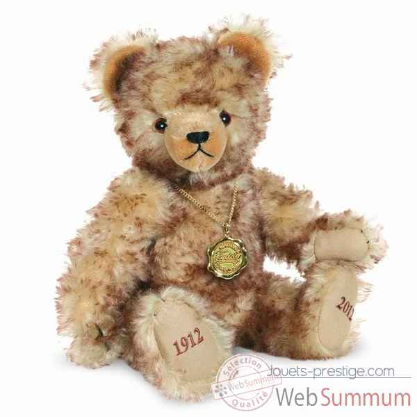 Peluche ours teddy bear 100 ans 38 cm collection ed. limitee hermann -14641 4