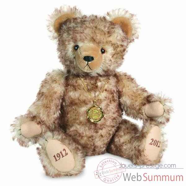 Peluche ours teddy bear 100 ans 45 cm collection ed. limitee 300 ex. hermann -14642 1