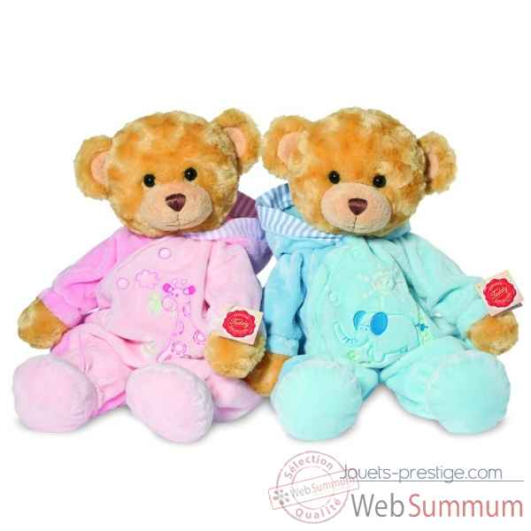 Pyjama bear blue 39 cm hermann -91353 5