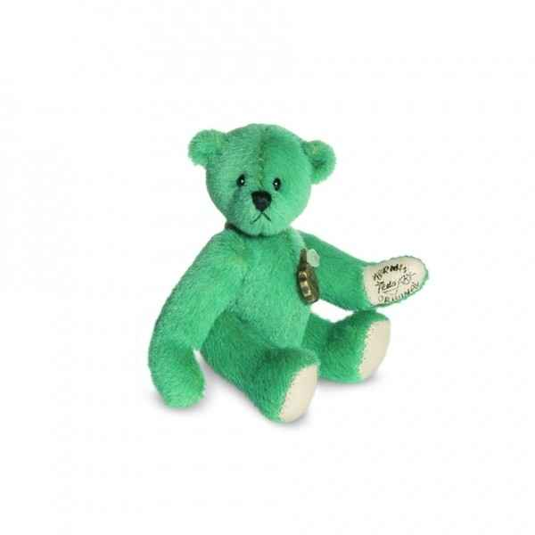 Peluche ours mini teddy turquois Hermann -15755 7