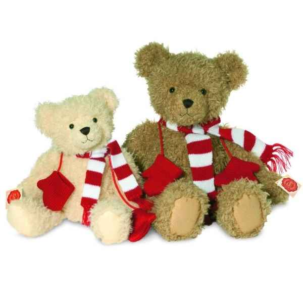 Teddy gold with muffler and gloves 48 cm hermann -91348 1