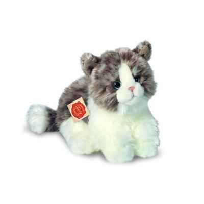 Peluche Hermann Teddy peluche chat assis gris 23 cm -90672 8