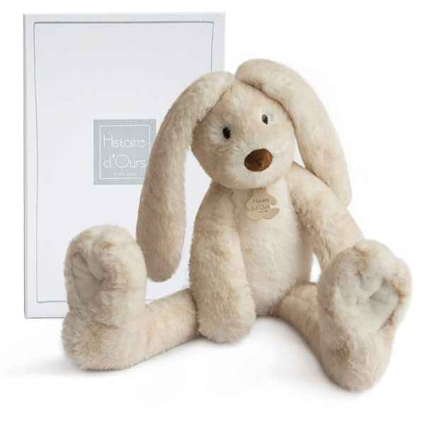 Peluche fluffy - lapin longues jambes ecru histoire d'ours -2736