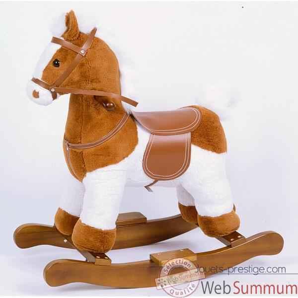 Cheval à bascule Doux poney miel musical - ho1329