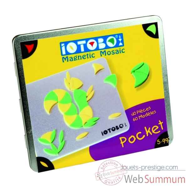 Jeu Mosaique magnetique - Iotobo - cd pocket jaune -ITBCD/J