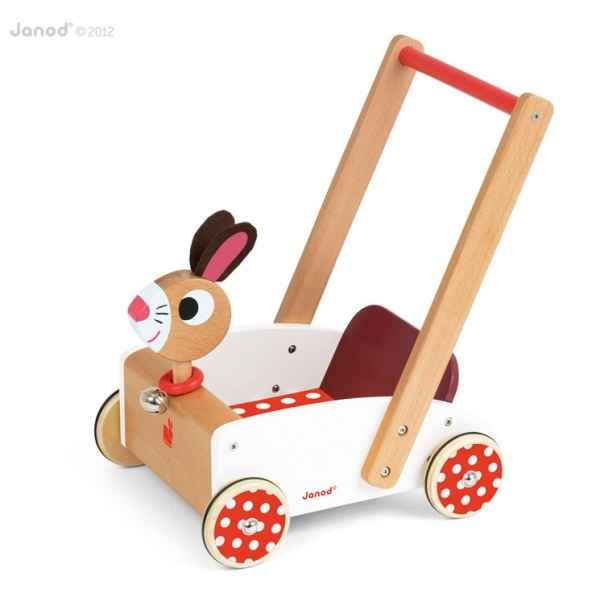 Chariot crazy rabbit Janod -J05997