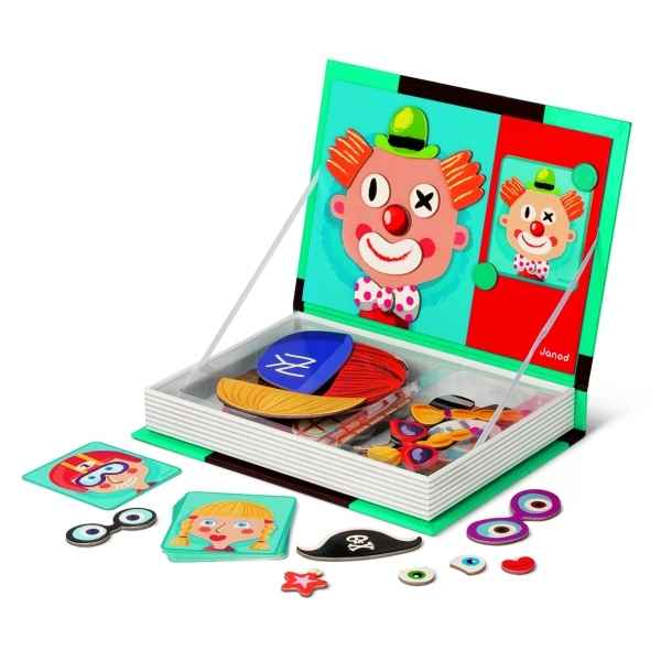 Magnetibook crazy faces Janod J05545