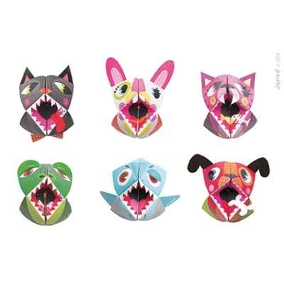 Marionnettes origami \'\'animaux\'\' Janod -J07759