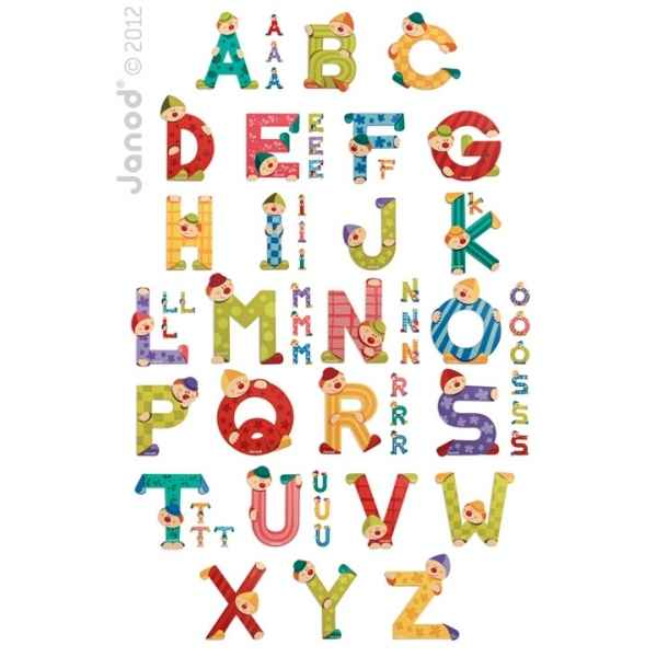 Set 144 lettres clown Janod J04540