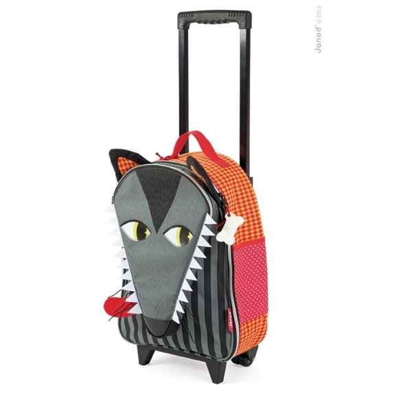 Valise a roulettes loup Janod -J07704