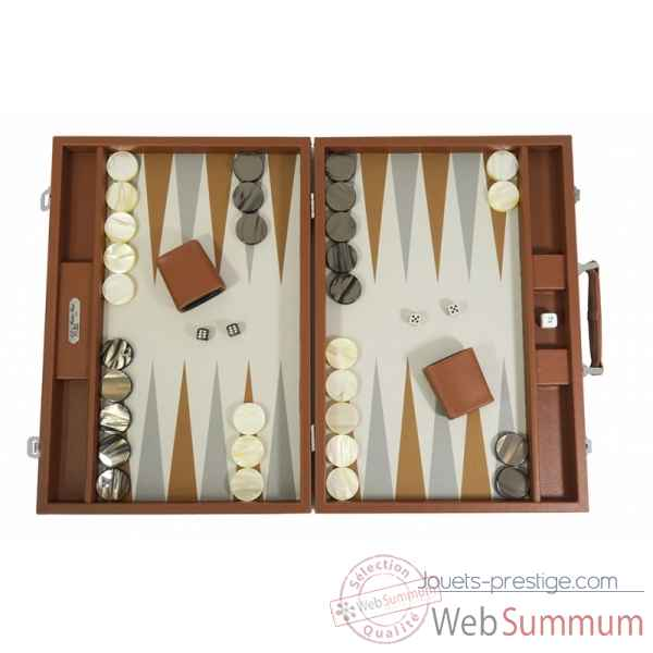 Backgammon basile toile buffle competition chataigne -B620-c