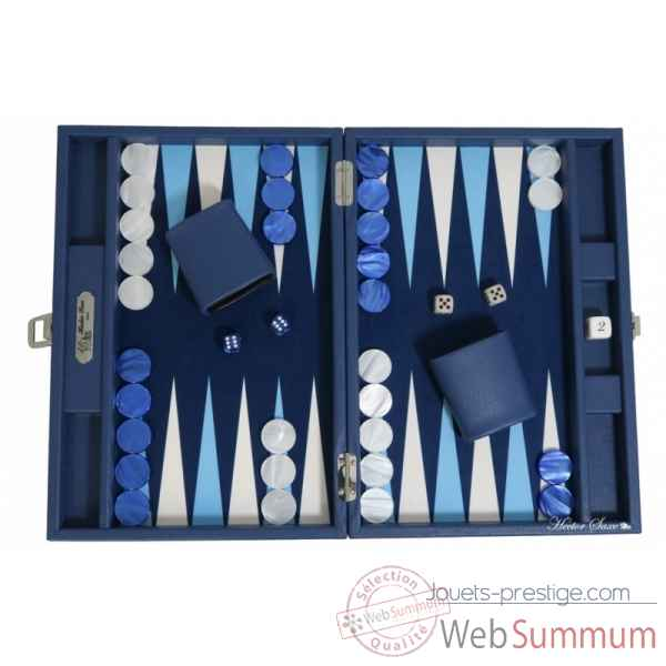 Backgammon basile toile buffle medium nuit -B20L-nu