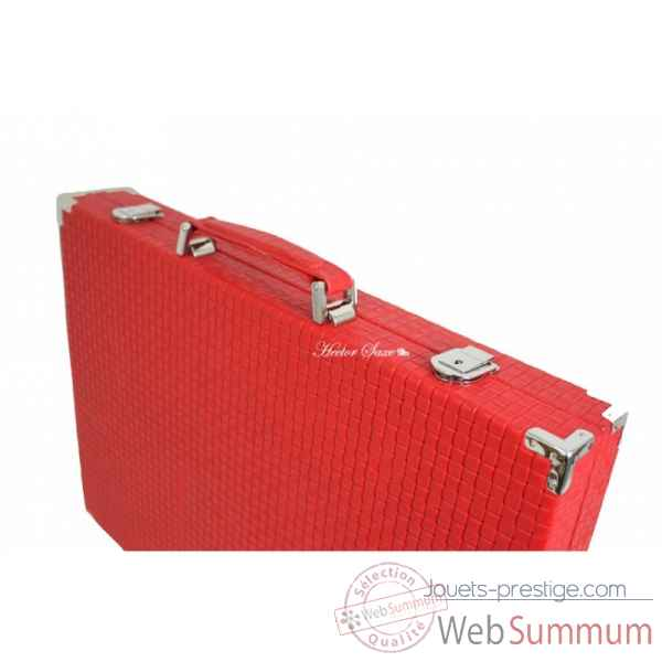 Backgammon noe cuir natte competition rouge -B667-r -10