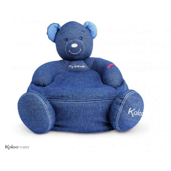 blue denim - maxi sofa ours Kaloo -K960069