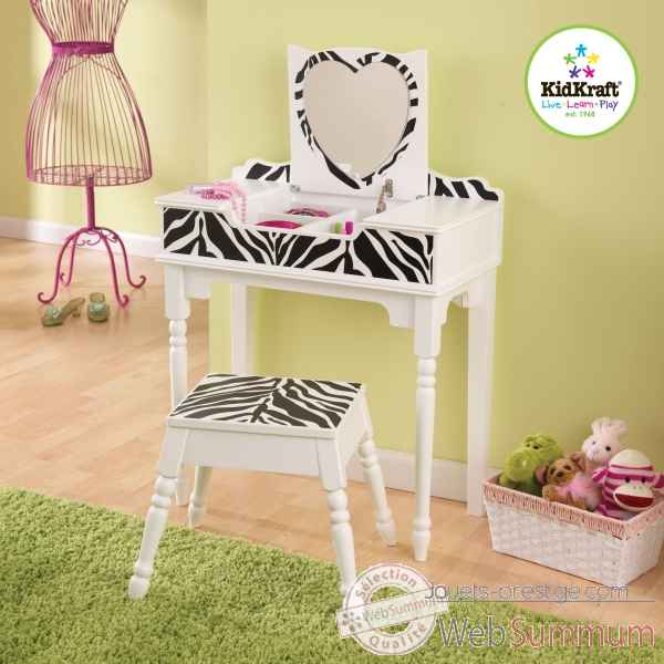 Coiffeuse et tabouret fun and funky KidKraft -13025