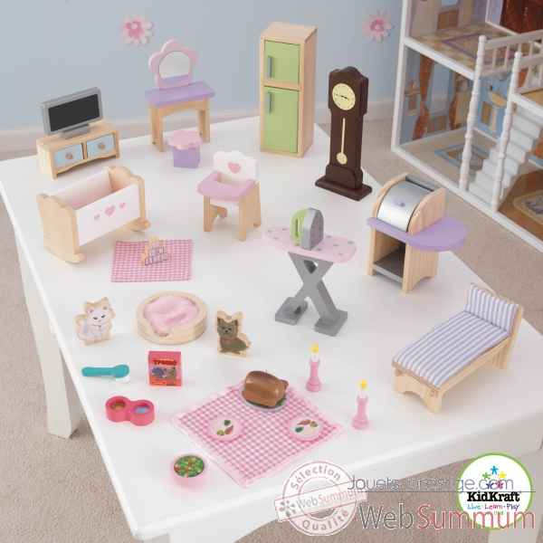 ensemble de meubles pour maison de poup es kidkraft dans cuisine enfant kidkraft. Black Bedroom Furniture Sets. Home Design Ideas