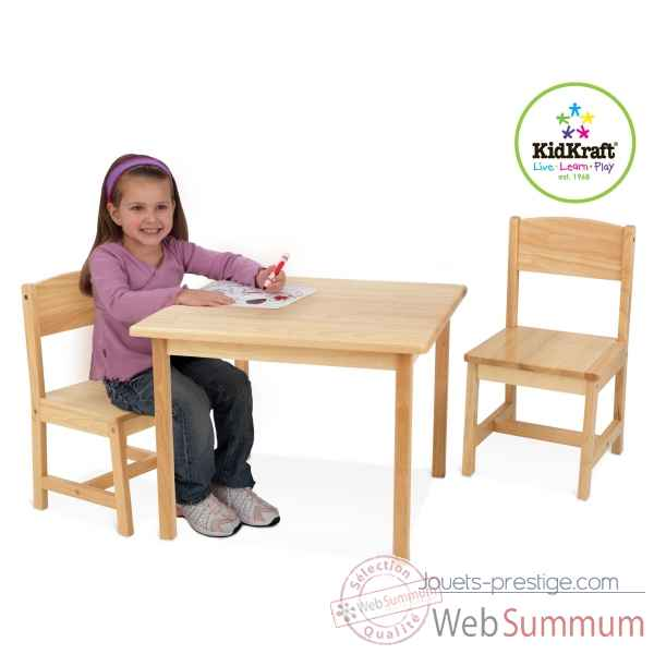 Ensemble table et 2 chaises aspen - naturel KidKraft -21221