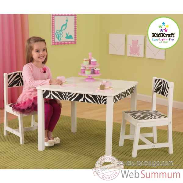 Ensemble table et 2 chaises fun and funky KidKraft -21325